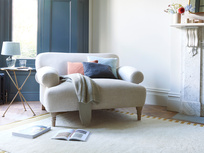 Easy peasy upholstered love seat