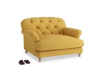 Truffle Love seat in Burnt Ochre Vintage Linen