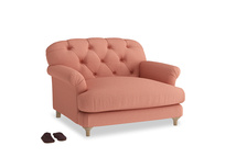 Truffle Love seat in Tawny Pink Brushed Cotton