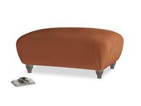 Rectangle Homebody Footstool in Praline Clever Deep Velvet
