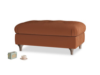 Rectangle Jammy Dodger Footstool in Praline Clever Deep Velvet
