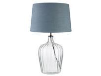 Medium Flute Table Lamp with a Dusk vintage linen Shade