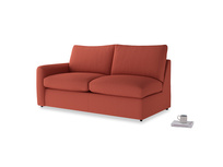 Chatnap Storage Sofa in Burnt Sienna Brushed Cotton with a left arm