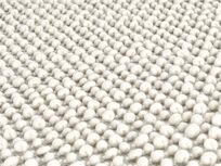 Bobble bedside rug in grey close detail