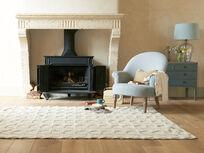 Tufty handwoven floor rug