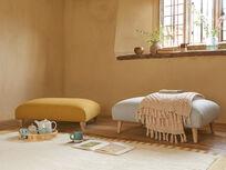 Sugarplum upholstered footstool