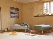 Sugarplum modern upholstered footstool