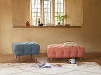 Treacle upholstered  footstool pouffe