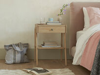 Century wooden bedside table