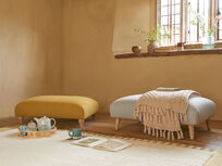 Loom floor rug in Burnt Yellow