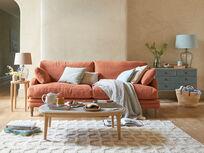 Squisharoo sofa in Burnt Umber vintage linen