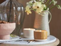 Candle Pots in Porridge and Burnt Custard wide