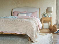 Chunky Knit throw in Natural Cream