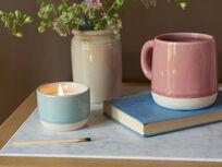 Candle Pot in Baker s Blue Muggins