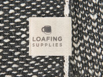 Floppy Knit in charcoal label detail