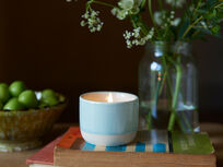 Candle Pot in Baker's Blue