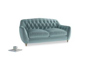 Medium Butterbump Sofa in Lagoon clever velvet