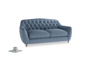 Medium Butterbump Sofa in Nordic blue brushed cotton