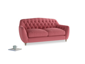 Medium Butterbump Sofa in Raspberry brushed cotton