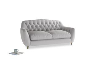 Medium Butterbump Sofa in Flint brushed cotton