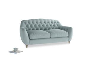 Medium Butterbump Sofa in Smoke blue brushed cotton