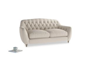 Medium Butterbump Sofa in Buff brushed cotton