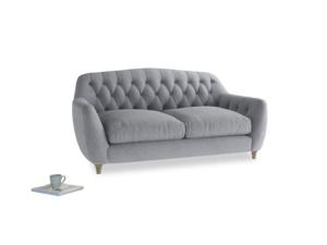 Medium Butterbump Sofa in Dove grey wool