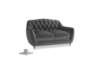 Small Butterbump Sofa in Steel clever velvet