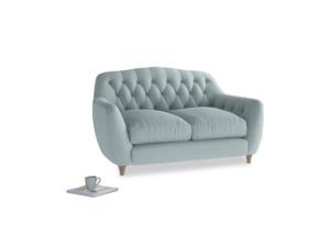 Small Butterbump Sofa in Smoke blue brushed cotton