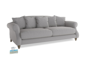 Large Sloucher Sofa in Flint brushed cotton