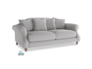 Medium Sloucher Sofa in Flint brushed cotton