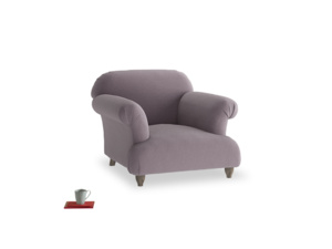 Soufflé Armchair in Lavender brushed cotton