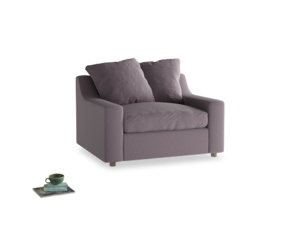Cloud Love seat in Lavender brushed cotton