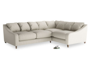 Large Right Hand Oscar Corner Sofa  in Thatch house fabric