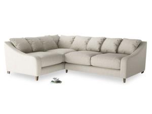 Large Left Hand Oscar Corner Sofa  in Thatch house fabric