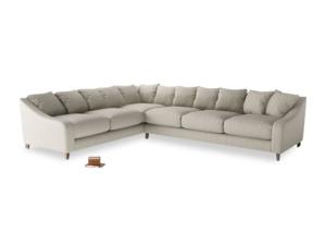 Xl Left Hand Oscar Corner Sofa  in Thatch house fabric