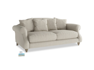 Medium Sloucher Sofa in Thatch house fabric