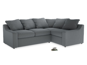 Large Right Hand Cloud Corner Sofa in Dusk vintage linen