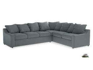 Xl Right Hand Cloud Corner Sofa in Dusk vintage linen