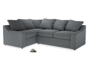 Large Left Hand Cloud Corner Sofa in Dusk vintage linen