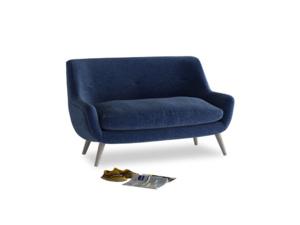 Small Berlin Sofa in Ink Blue wool