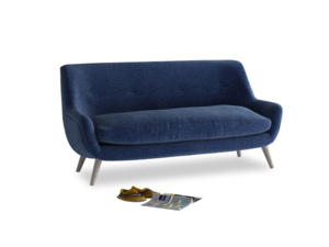 Medium Berlin Sofa in Ink Blue wool