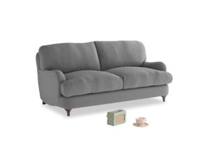 Small Jonesy Sofa in Gun Metal brushed cotton