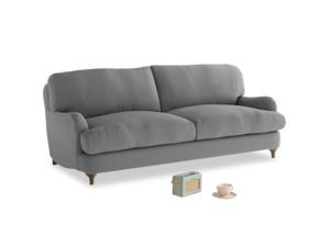 Medium Jonesy Sofa in Gun Metal brushed cotton