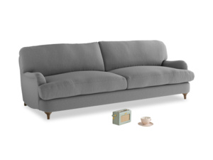Large Jonesy Sofa in Gun Metal brushed cotton