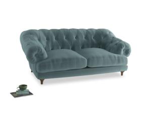 Medium Bagsie Sofa in Lagoon clever velvet