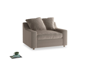 Cloud Love seat in Fawn clever velvet