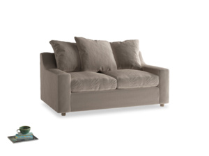 Small Cloud Sofa in Fawn clever velvet