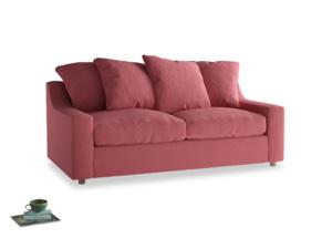 Medium Cloud Sofa in Raspberry brushed cotton
