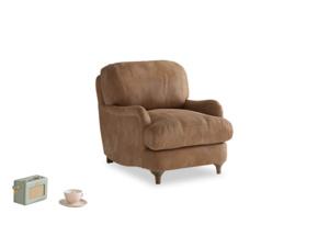 Jonesy Armchair in Walnut beaten leather